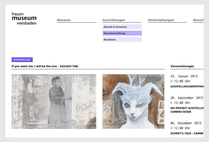 LESS – Website frauen mueseum wiesbaden